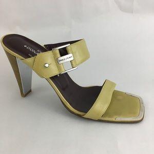 Donald Pliner Couture Slide Heels Buckle Womens 9M